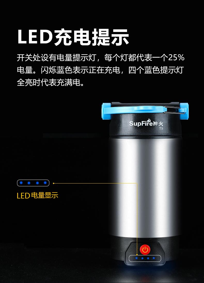 尽管它的外表很差,人们还是非常称职的移动电源。其内置的电池不仅可以照明13.5小时,而且可以同时对两个设备充电。