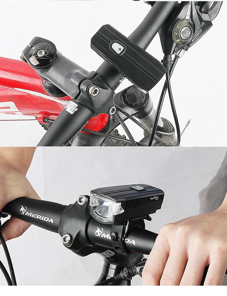 自行车灯前灯哪里有买 390流明神火bl08便宜好用的山地车前灯