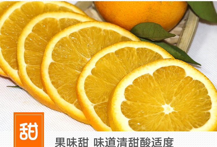 中国最好的脐橙新鲜现摘现发果嫩肉厚多汁