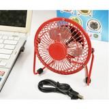 旋风铝叶USB迷你风扇 由噻铝叶纯金属360度旋转 超强风力