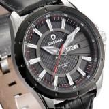 正品牌卡斯曼男表 运动男士手表 真皮带防水表时装表