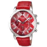 卡西欧正品 SHN-5010L-4A 切割菱形镜面 镶钻水钻皮带女士手表