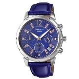 正品卡西欧时尚优雅皮带女表手表SHE-5024BL-6A水钻表