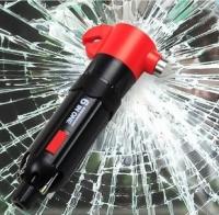 汽车用多功能六合一安全锤 逃生救生锤 车载用品 应急必备工具
