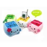超可爱 豆腐宝宝手机座/毛绒手机座/创意手机座 手机伴侣