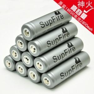 SupFire神火18650锂电池强光手电筒用原装充电式单支裸装老款2800毫安