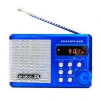 圣宝SV922 便携式插卡迷你小音箱 收音机 usb晨练 u盘mp3播放器