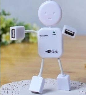 人形多USB接头分线器
