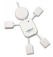 可爱人型USB集线器2.0四口分线器