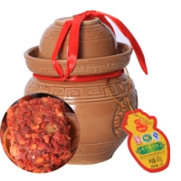石宝寨牌忠州豆腐乳多少钱  家的味道  重庆忠县陶瓷罐装  香辣味霉豆腐400g