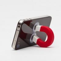 随心所吸 万能 iPhone4S 手机多功能磁铁造型支架