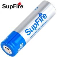 强光手电筒18650锂电池充电式3.7V尖头蓝色1700毫安SupFire神火品牌