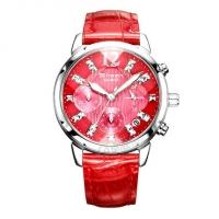 卡西欧SHN-5010L-4A 切割菱形镜面镶钻水钻皮带女士手表