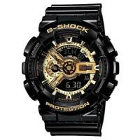 卡西欧CASIO男表 g-shock时尚炫酷户外运动黑金手表GA-110GB-1A