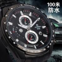 品牌特卖 正品卡斯曼男表 钢带 夜光防水运动男士手表