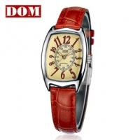 香港DOM 正品 潮流 名表 小牛皮 女士 手表 女表 韩国腕表