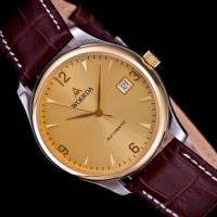 沃尔达皮带手表男机械表正品男士全自动手表男超薄机械表正品腕表