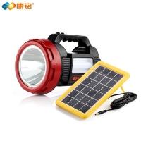 多功能太阳能手电筒的市场需求前景广阔 康铭KM-2657A可插太阳板供电