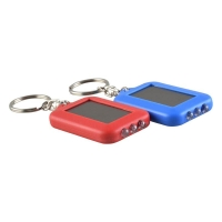 LED太阳能迷你小型紫外线验钞灯俱竞阳便携式充电手电筒带钥匙扣