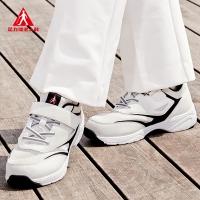 足力健广场舞鞋 白色女式新款休闲运动鞋中老年妈妈鞋