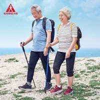 足力健老年旅游鞋 秋冬季中老年人户外徒步出行软底轻便休闲运动鞋