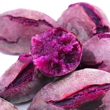 农家紫薯做馒头紫薯粥汤圆孕妇老少皆宜有助减肥好处多多