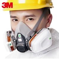 3m6200防毒面具喷漆专用消防化工气体甲醛防护面罩活性炭