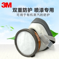 3m1201防毒面具 喷漆打药防尘甲醛装修异味口罩防护面罩